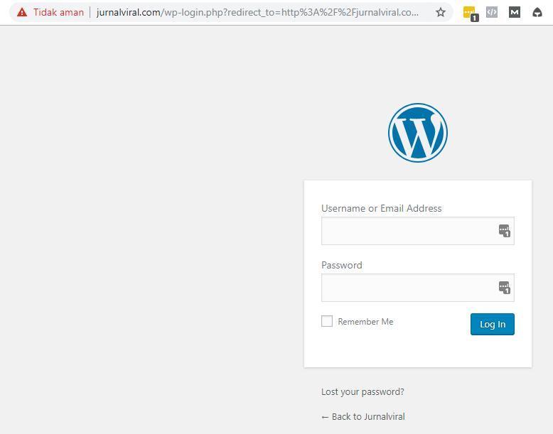 login dashboard admin WordPress