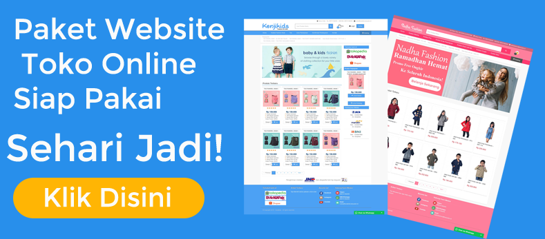 paket website toko online siap pakai