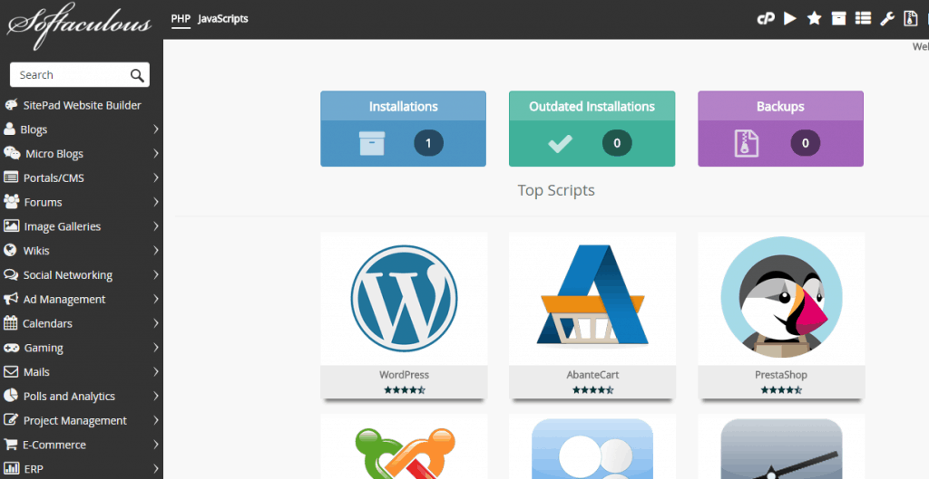 Menginstall CMS dengan Softaculus web hosting murah Indonesia