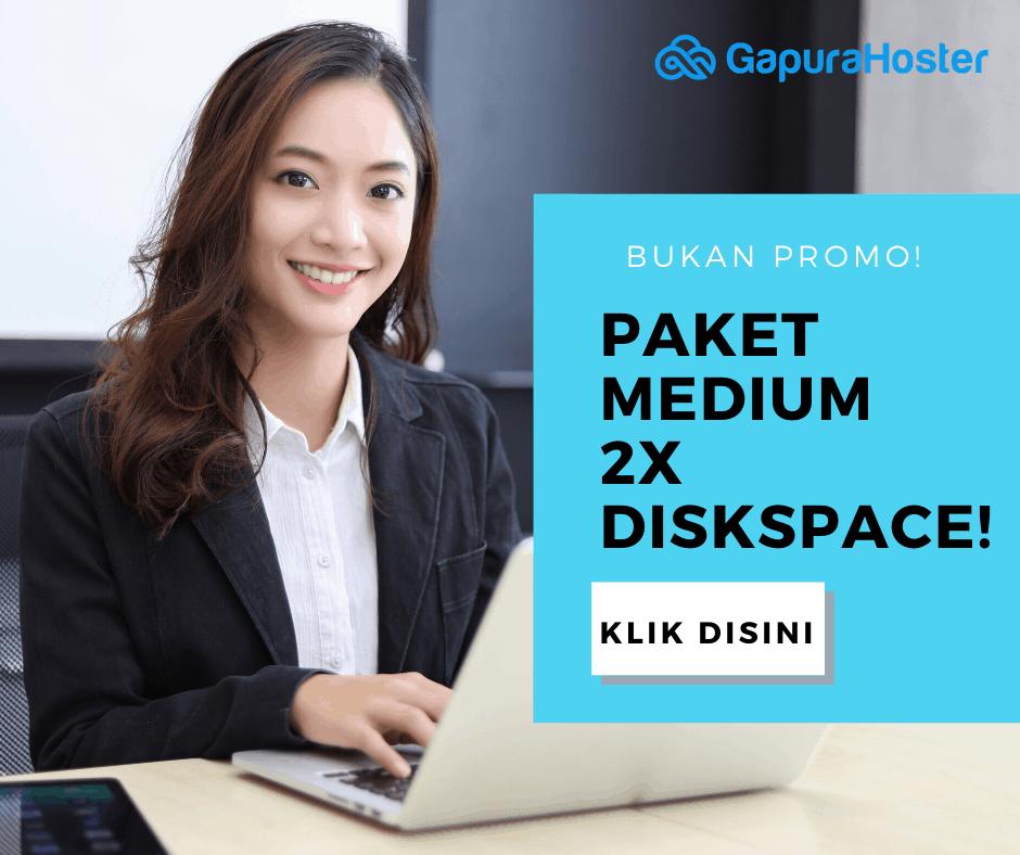 Promo Hosting Medium Gapurahoster