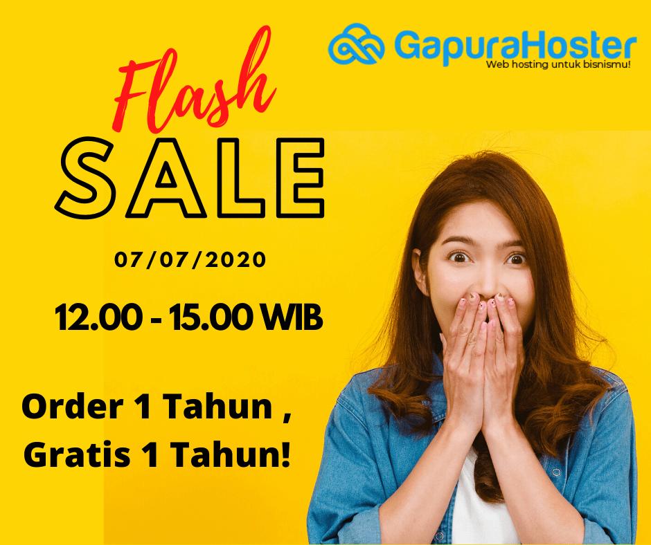 Gapurahoster Flash Sale
