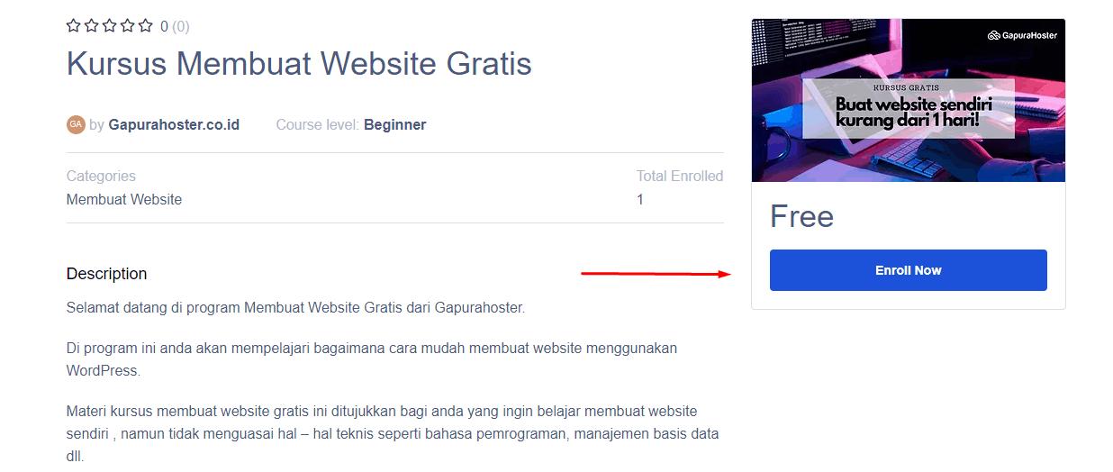 Materi panduan membuat website gratis