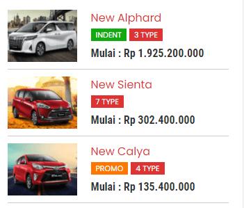 random model mobil populer fitur dari jasa pembuatan website sales mobil